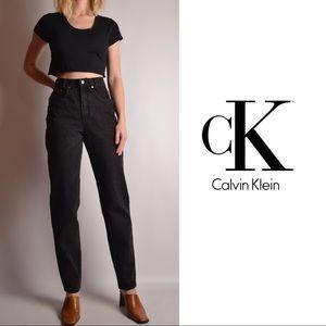 Calvin Klein Vintage Black Denim Jeans- Women's 6